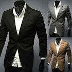 Fashion Mens Casual Slim Fit Suits Stylish Two Button Suit Blazer Coat Jackets ❤