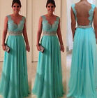 New Sexy Woman Sleeveless Evening Party Ballgown Masquerade Cocktail Long Dress