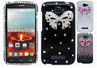 Alcatel OneTouch Pop Icon Crystal Diamond BLING Protector Hard Case Phone Cover