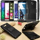 Rugged Armor Hybrid Impact Heavy Duty Hard+Soft Case Cover Kick Stand For Phone