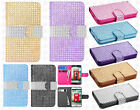 LG Optimus Exceed 2 VS450 Bling Diamond Wallet Flip Pouch Case + Screen Guard