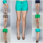 New Women's LOVE TREE Drawstring Tie Linen Shorts S,M,L Available in 7 Colors