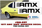 QA-937 1977 AMC - AMERICAN MOTORS - HORNET - AMX - LOWER FENDER DECALS - TWO