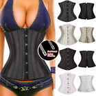 24 Spiral Steel Boned Waist Training Cincher Underbust Corset PLus Size S-6XL #C