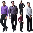 New Fashion Mens Luxury Long Sleeve Casual Formal Office Work Dress Shirts Tops