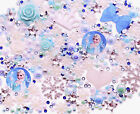 FROZEN Themed Blue Cabochon Rhinestone Pearl Set Kit DIY Decoden Kawaii Craft