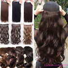 cheap price clip in hair extensions 1pcs 5clips long straight curly real thick