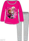 Girls Frozen Pyjamas, Pink Grey, Official Disney Long Sleeve Top & Pants PJs