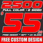 2500 Full Color Business Cards Printing Design! UV Gloss! FREE SHIPPING