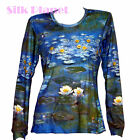 CLAUDE MONET Water Lilies Pond Waterlilies TOP LS T SHIRT FINE ART PRINT *
