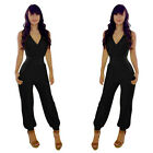 Trendy Sexy Women Casual Sleeveless V-Neck Jumpsuit Trousers Rompers Clubwear