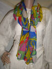 Ladies Scarf Multi-color Geometric Nautical Anchors Sailing Unbranded Polyester