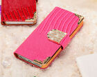 """New Luxury Crystal WALLET LEATHER FLIP CASE COVER FOR iPhone 6 Plus 4.7""""/5.5"""""""