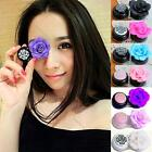 Handmade Rose Contact Lenses Box 3D Camellia Contact Lens Compact Case 2015 New