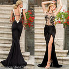 2015 Women Mesh Bodycon Slim Celeb Evening Party Cocktail Maxi Long Dress Black