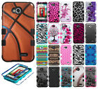 For LG Optimus Exceed 2 VS450 IMPACT TUFF HYBRID Case Skin Covers + Screen Guard