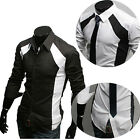 Luxury Mens Collection Fashion Formal Casual Shirts Suits Slim Fit Dress Shirt ❤