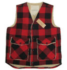 Polo Ralph Lauren Denim & Supply Mens Red Black Wool Buffalo Vest Jacket Coat