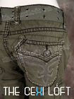 Womens ROCK REVIVAL Shorts OLIVE CARGO with Pewter Trim Style # RCW062-5