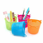 New Portable Useful Mini Desk Plastic Organizer Decor Stationery Storage Basket