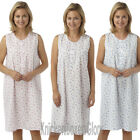 Ladies Sleeveless Poly Cotton Nightdress/Nightie/Chemise Size 12 - 30 NEW