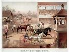 High Quality POSTER on Paper or Cotton Canvas.Decor Art.Horse Ready to race.4151