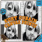 Kurt Cobain CANVAS ART PRINTS - Nirvana Grunge Teen Spirit In Bloom Lake Fire