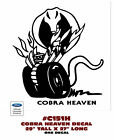 "C151-H FORD MUSTANG - COBRA HEAVEN SNAKE DECAL - 29"" TALL - ONE DECAL"