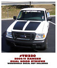 TR320 2004-11 FORD RANGER - DUAL HOOD STRIPES - FLAT or GROOVE HOODS