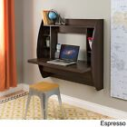 Floating Wall Mount White Home Office Room Computer Desk Furniture Storage Shelf