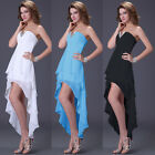 Unique High Low Formal Evening Prom Dress Birthday Cocktail Party Dress Gown