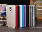 New For Samsung Galaxy Aluminum Metal Bumper Frame Acrylic Glass Cover Case Skin