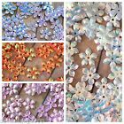 Sequins Flower Snowflake 10mm White Blue Pink Copper AB Hi Shine Choose Color