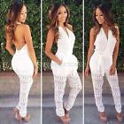 Sexy Women Celeb V Neck Backless Playsuit Evening Party Bodycon Romper Jumpsuit