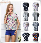 Hot! New Women Retro Sweet Cute Chiffon 19 Kind Flower Loose Blouse Shirt Top