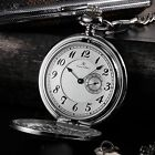 KS Antique 3 Colours Sub Second Hand Dial Long Chain Pocket Quartz Watch + Box