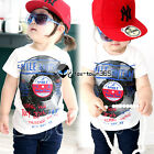 2016 Summer Baby Toddlers Kids Boys Girls Smile Record Print T-Shirt Top 2-7Y
