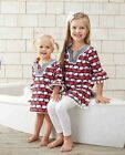 Mud Pie Boathouse Baby Red White Blue Baby Girl Whale Tunic 1142139