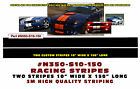 """N350-S10-150 * DUAL LEMANS STRAIGHT RACING STRIPES - 3M QUALITY - 10"""" WIDE"""
