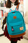 Women Fashion Girl Canvas Satchel Lovely Sweet Backpack Camping Cat Vogue Bag
