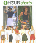 Misses Shorts Sewing Pattern Elastic Waist Panel Option Straight Flared 9514