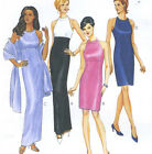 Misses Lined Evening Dress Stole Sewing Pattern Halter Bodice Darts McCalls 8676