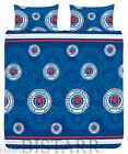 RANGERS FOOTBALL FC MULTI CREST DOUBLE SIZE BED DUVET QUILT COVER BEDDING SET