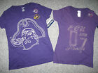 "EAST CAROLINA UNIVERSITY Women's T-Shirt,100% Cotton,""V"" Neck,NWT"