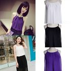 Nice Women's Summer Casual Slim Chiffon Sleeveless Tops Vest Tank T-Shirt Blouse