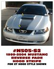 N505-S2 1999-04 FORD MUSTANG - REVERSE HOOD FADE with SCOOP BLACKOUT - S2
