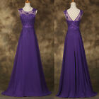 2015 NEW STOCK Applique PRINCESS Beaded Wedding Gown Evening Prom Party Dresses