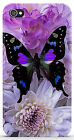 Cover iPhone 4 4S 5 5S / Galaxy S3 S4 S5 - FARFALLA BUTTERFLY VIOLA 542 3DOXFGYU