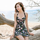 One Piece Floral Underwire Bra Skirted Swimsuit Swimwear Tankini Top Swim Dress