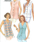 Misses Sleeveless Top Sewing Pattern Neck Length Variations Princess Easy 3378